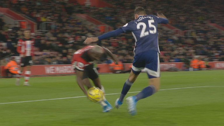 Latest Sports News: Moussa Djenepo handled the ball in the build-up to Danny Ings' equalising goal for Southampton