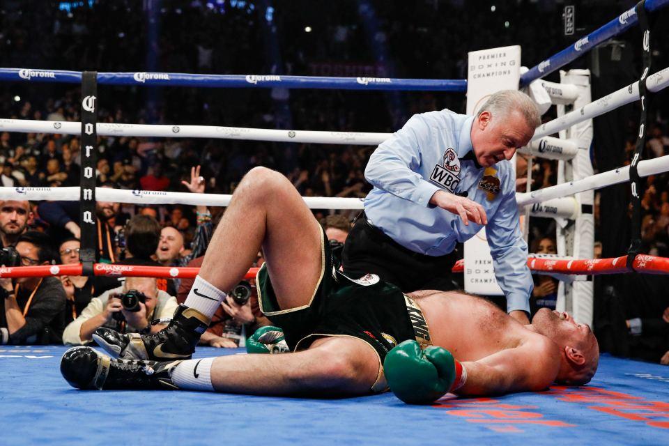 Everybody thought Fury was beaten when Wilder put him down