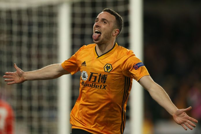 Diogo Jota scored a hat-trick for Wolves