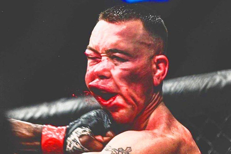 The punch from Usman that shattered Covington's jaw in their first meeting