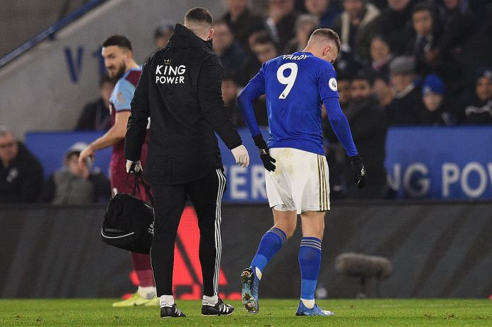 Vardy made an early exit at the King Power