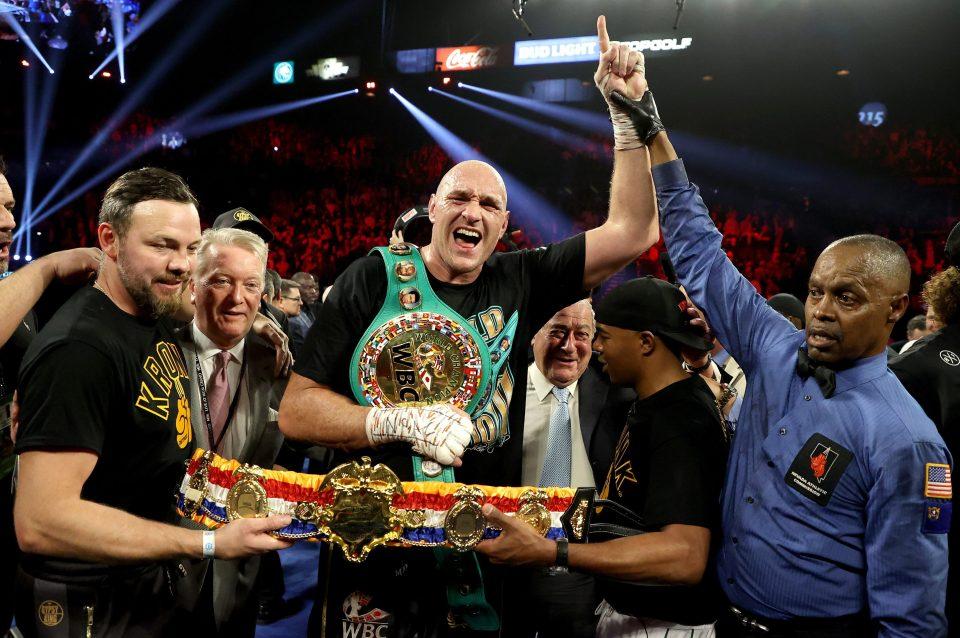 Fury is the WBC heavyweight champion