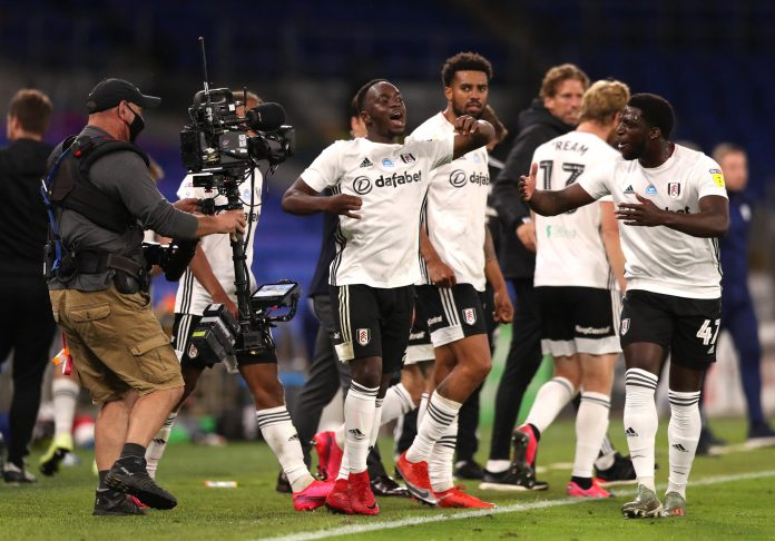 And Kebano's late goal gave Fulham a 2-0 lead going into the second leg at Craven Cottage