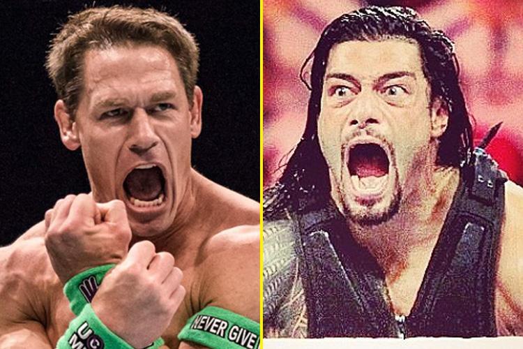 John Cena and Roman Reigns met in 2017