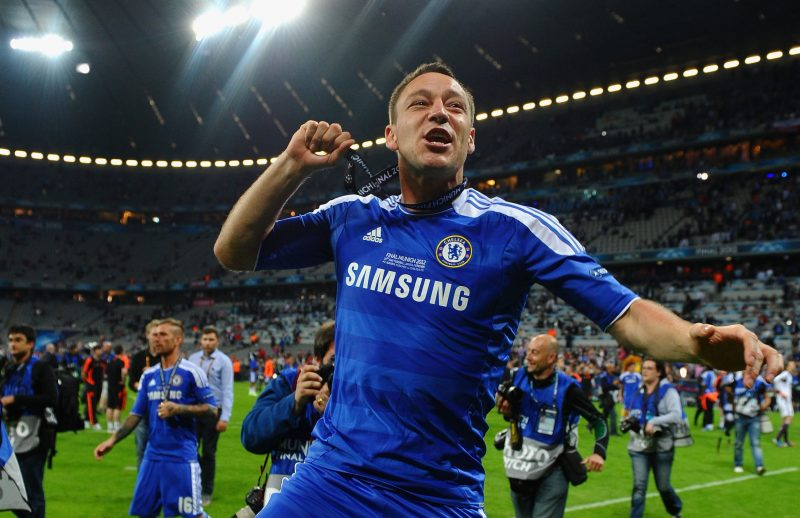 Terry won the Champions League with Chelsea in 2012