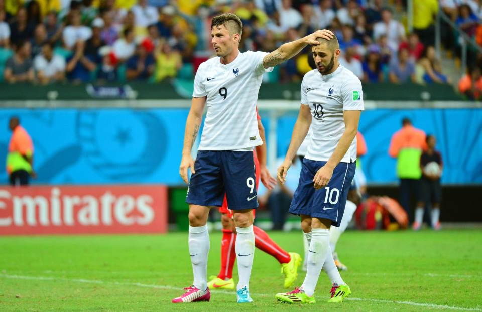 Olivier Giroud and Karim Benzema are once again teammates of France