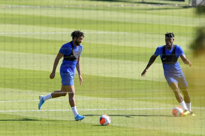 James and Batshuayi train together but at a safe distance