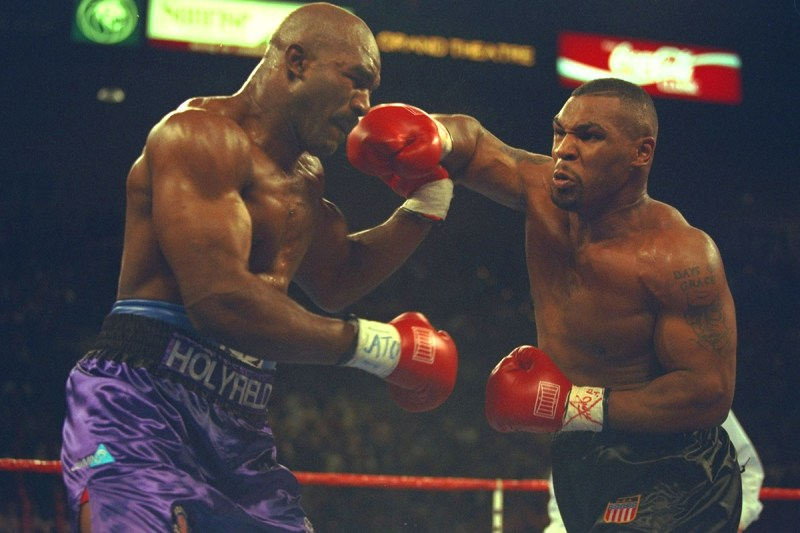 Holyfield's fights with Tyson are legendary, with the former winning both during their 1990s heyday