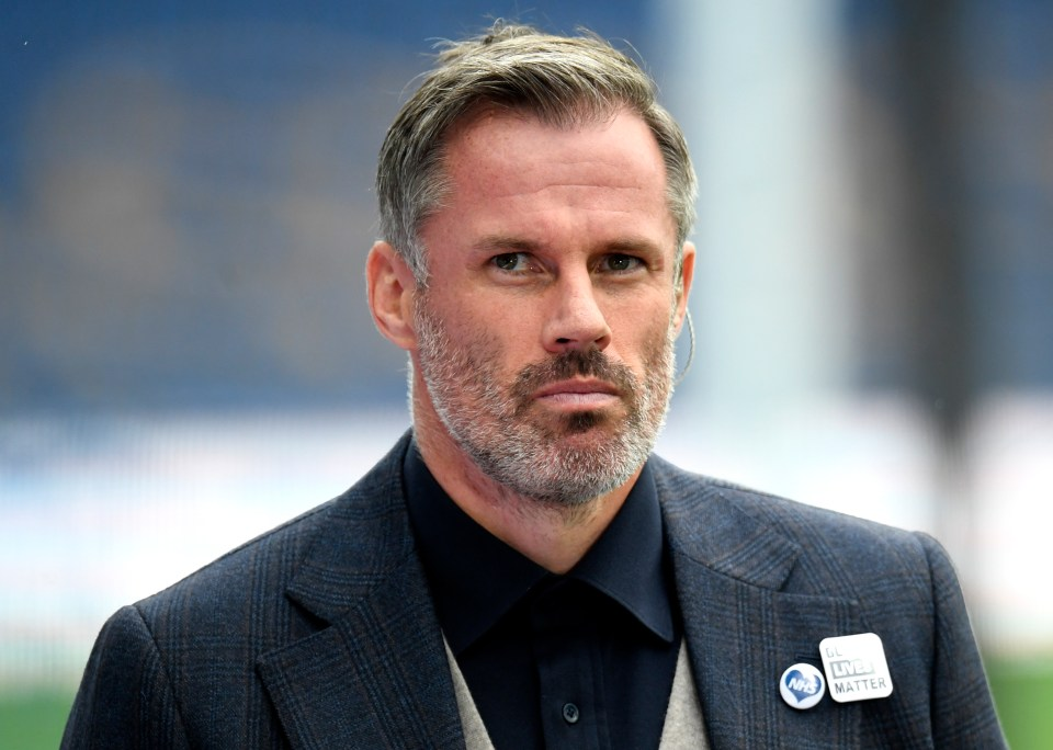 Carragher said Everton was 'lucky' to be awarded a penalty