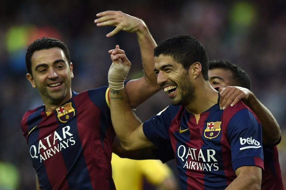 Xavi loved playing with Suarez