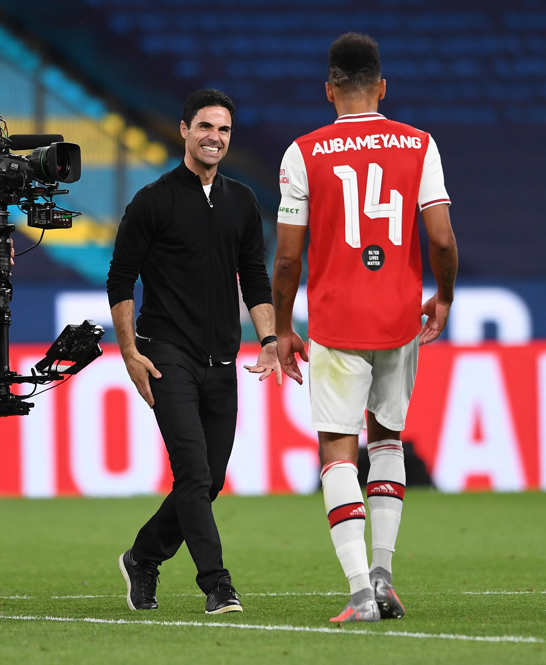 Arsenal news: Mikel Arteta provides positive update on Pierre-Emerick Aubameyang's future thumbnail