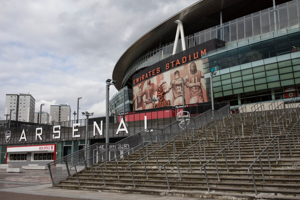 The Emirates are the first England stadium to welcome fans again