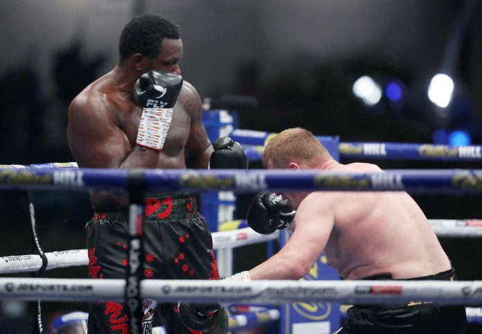 Whyte floored Povetkin twice