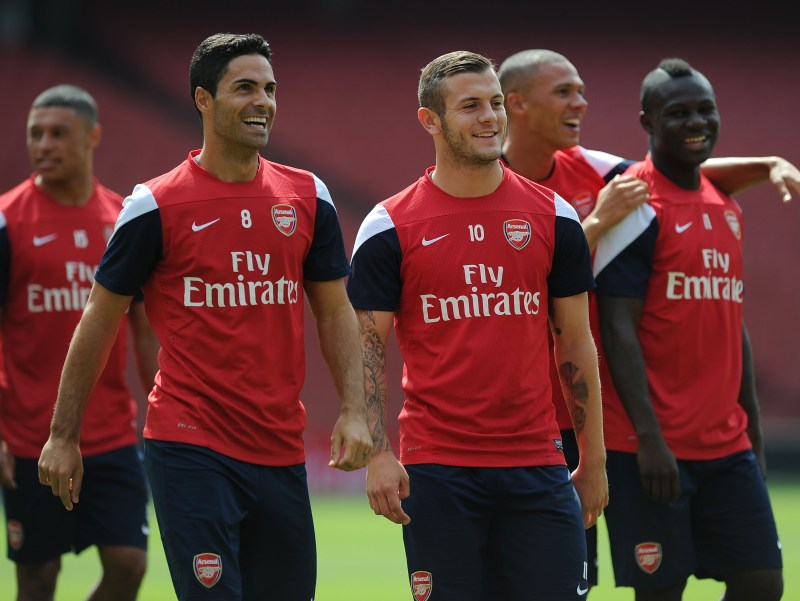 Wilshere played alongside Arteta at Arsenal for five years and is now training at Arsenal under the Spaniard's guidance