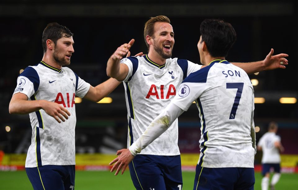 Harry Kane and Heung-min Son combined again against Burnley to claim a narrow victory at Tottenham