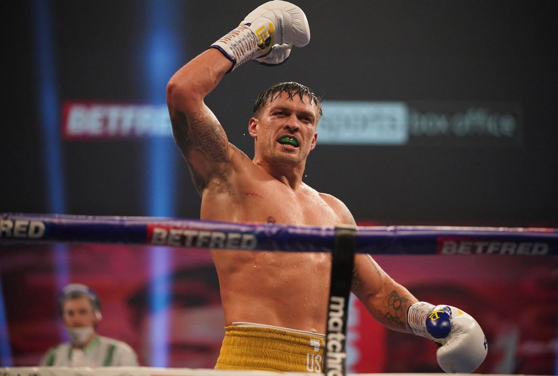 Anthony Joshua Vs Tyson Fury Gets Major Boost As Mandatory Challenger Oleksandr Usyk Hints He Might Step Aside