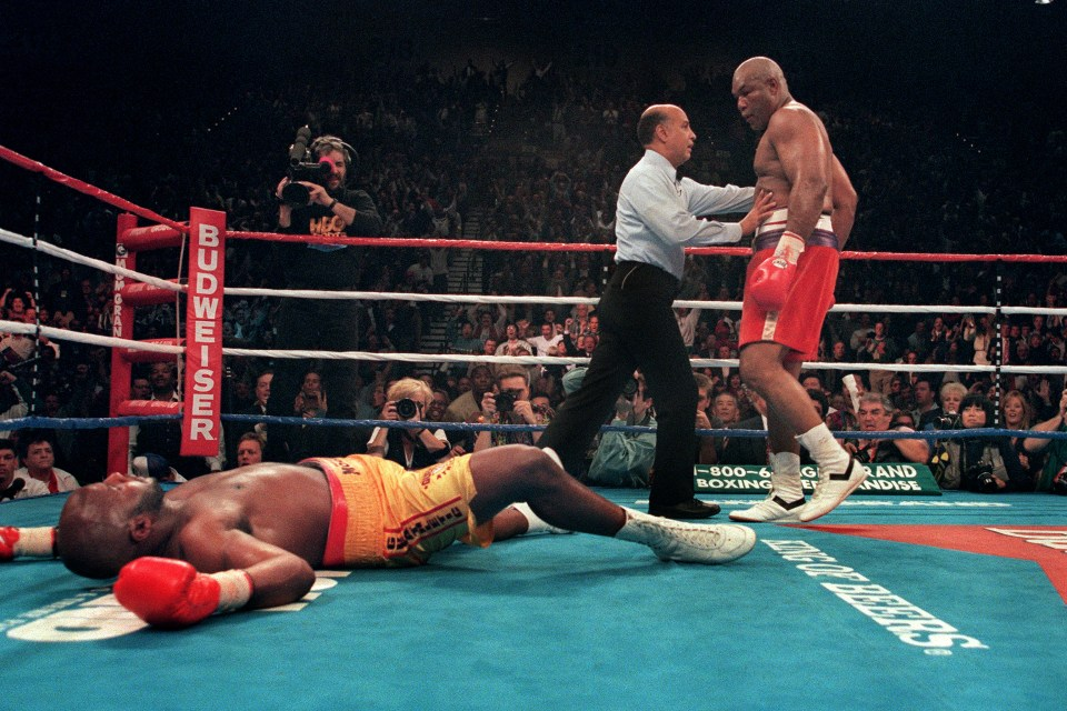 Moorer lost his title to Foreman, but let's not forget this is a man who stopped Holyfield