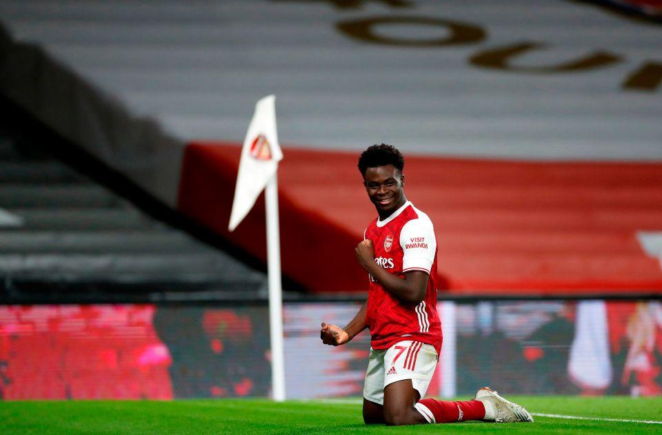 Saka is now a regular Arsenal starter