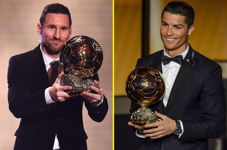 Messi and Ronaldo have won the Ballon d'Or multiple times and have dominated it since 2008