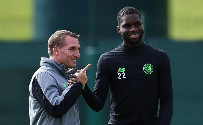 Brendan Rodgers ve Edouard, yönetici Celtic'ten Şubat 2019'da Leicester'a katılmak için ayrılmadan önce birlikte çalıştı.
