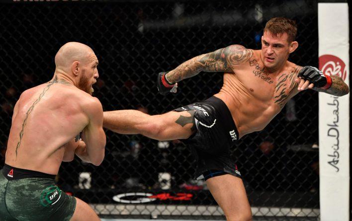 McGregor, Ocak ayında bir araya geldiklerinde Poirier'in tekmeleriyle başa çıkamadı