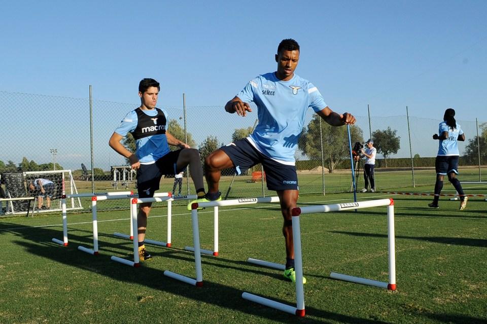 He was, however, able to train alongside Portugal and Man United legend Nani.