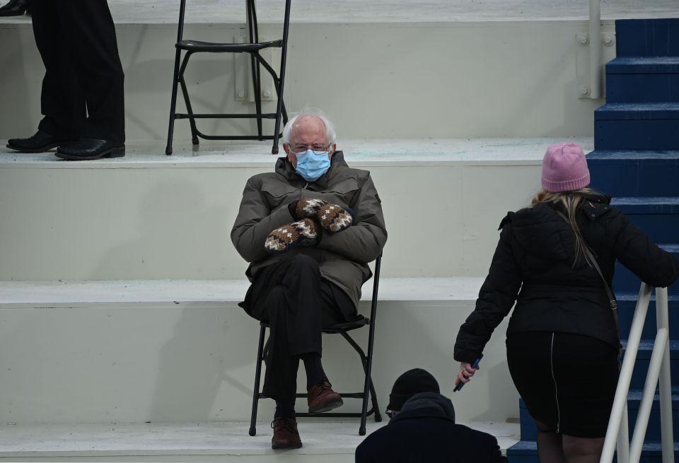 Photos of US Senator Bernie Sanders went viral during Joe Biden's presidential inauguration