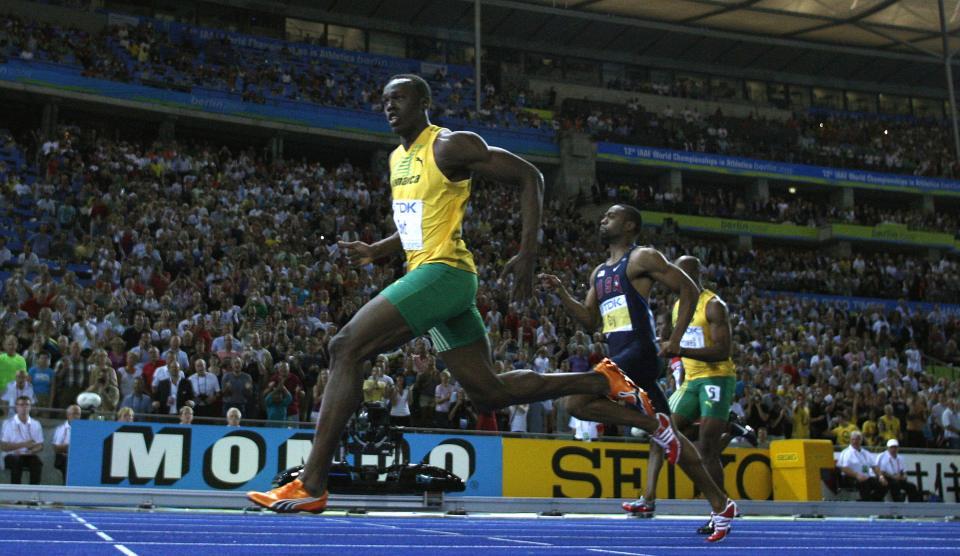 Bolt finished far ahead of Gay