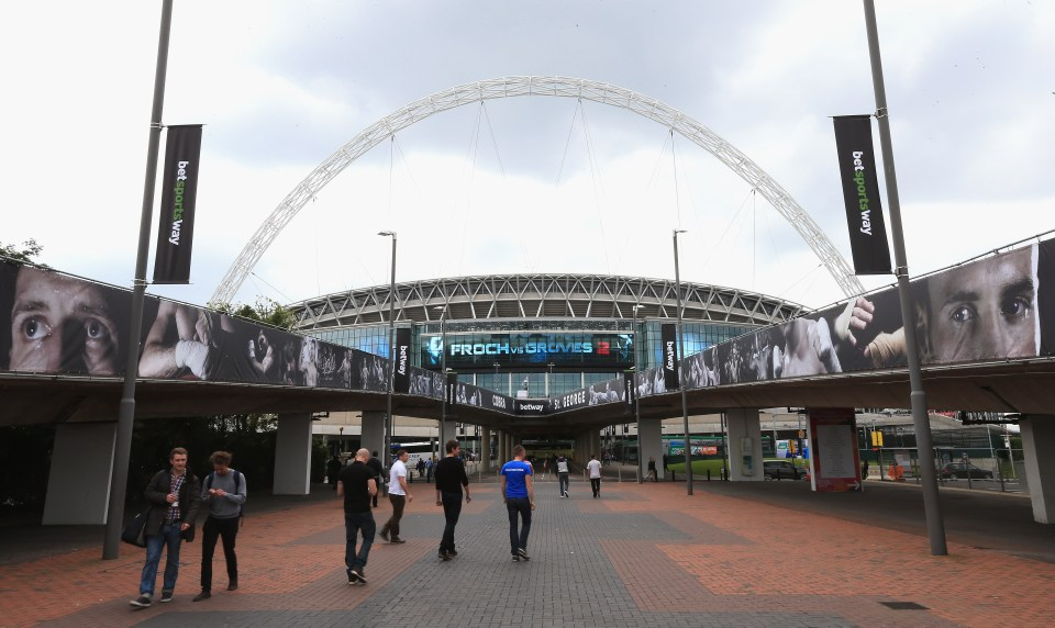 Wembley Stadium will host events such as the FA Cup Final - which could be used as a test event
