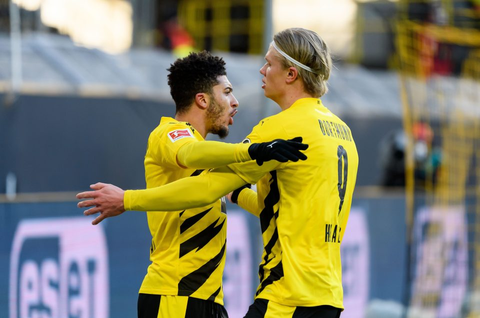 Sancho and Haaland have played for Dortmund this season