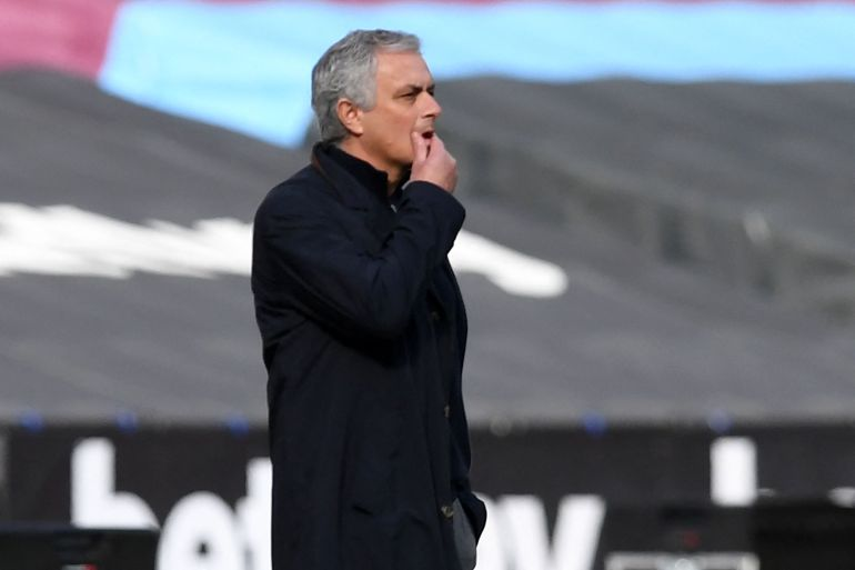 Mourinho is under pressure at Tottenham to hand out trophies and European football