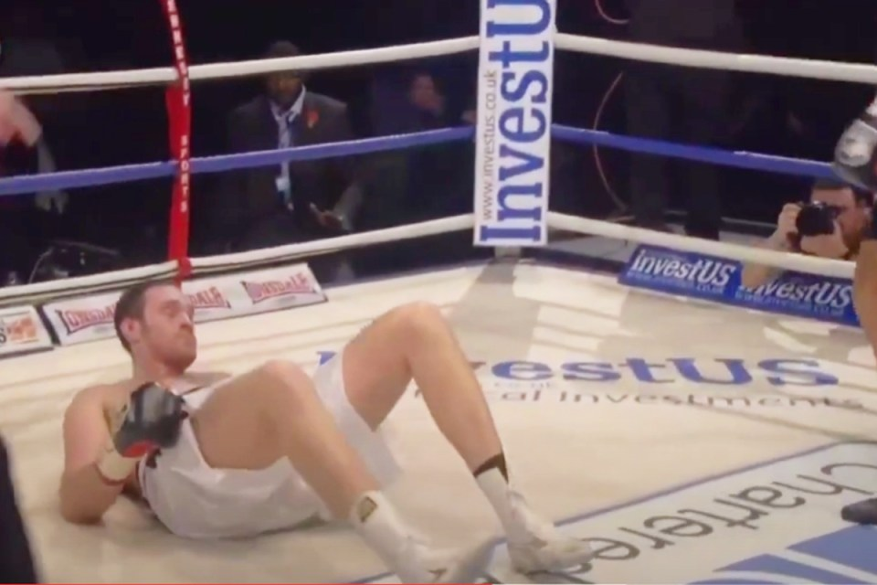 The Briton finally stood up and won by TKO