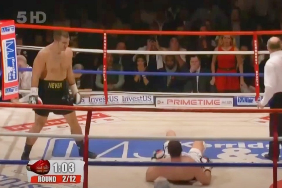 Fury was down in the second round