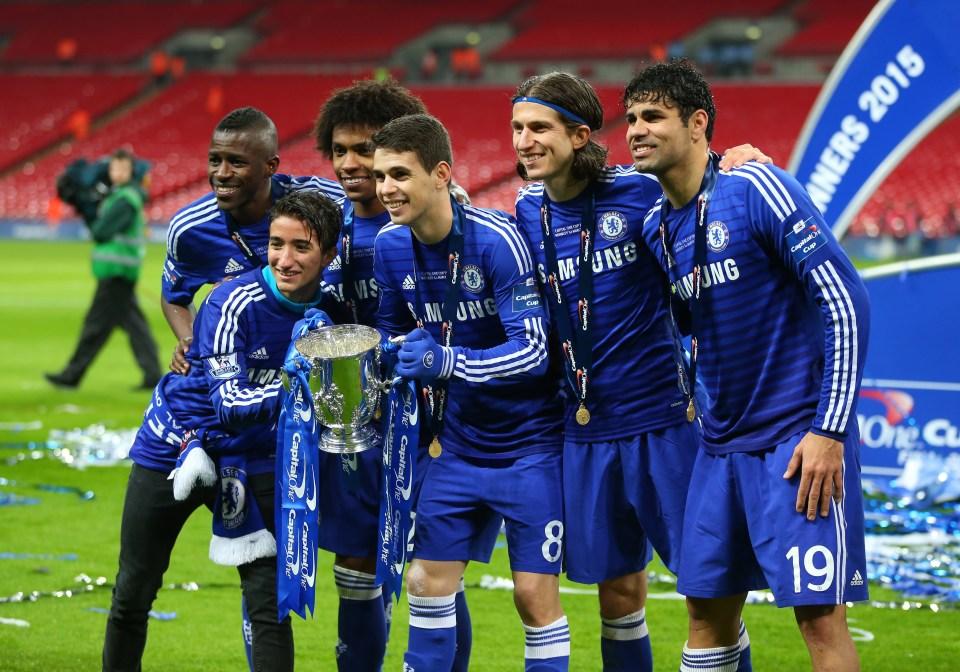Oscar won a Premier League title and a League Cup under Mourinho at Chelsea
