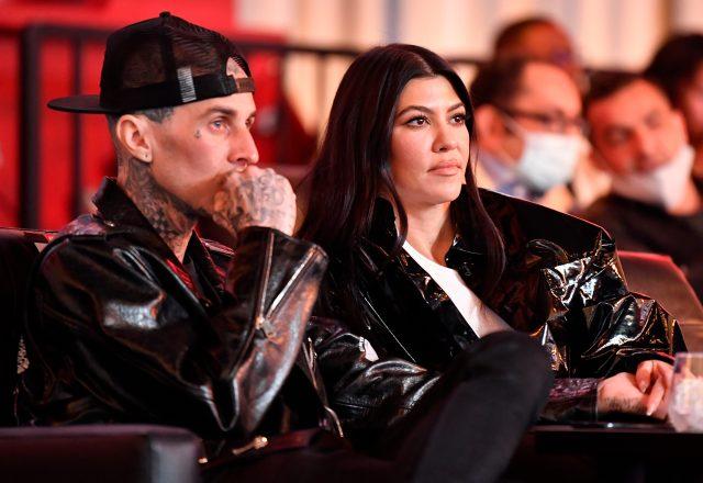Kourtney Kardashian was in attendance at UFC 260