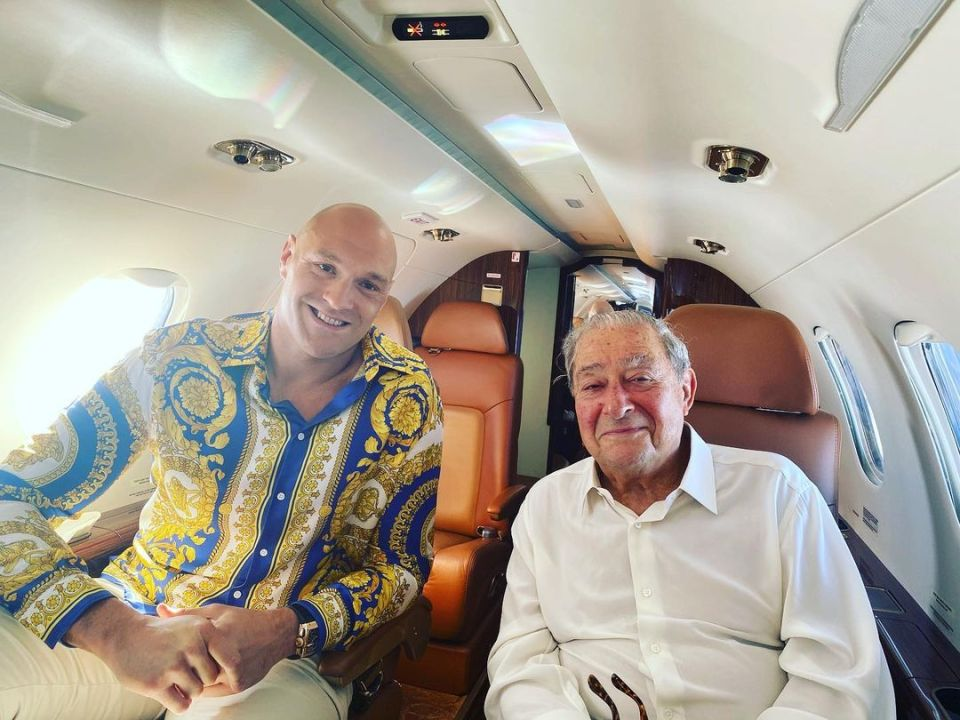 Bob Arum says Fury has been speaking in glowing terms about his camp