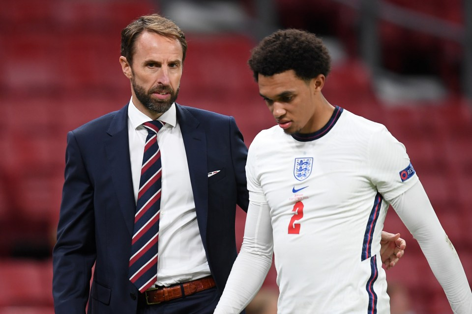 Southgate dropped Alexander-Arnold from his England squad in the last international break