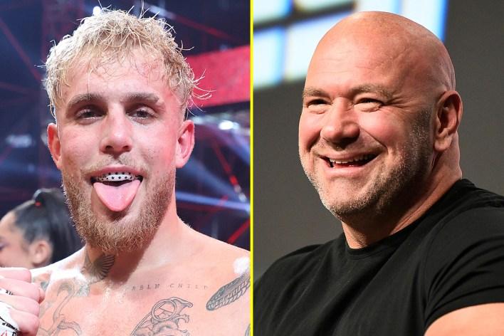 Jake Paul, Dana White'a savaşçılarına daha fazla ödeme yapmasını söylemeye çalıştı.