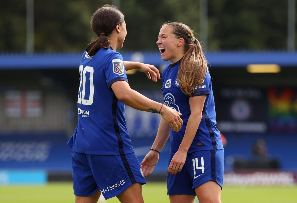 Fran Kirby and Sam Kerr were in stunning form again for Chelsea