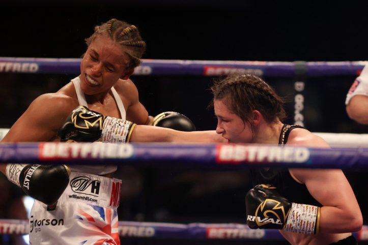 It wasn't pretty at times, but Katie Taylor got the job done over a resurgent Natasha Jonas   Taylor vs Han
