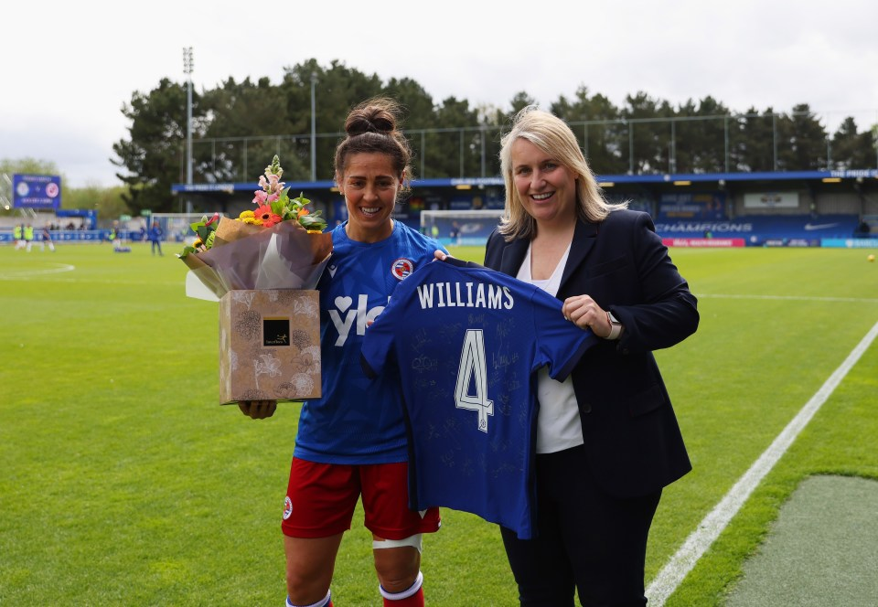 Chelsea boss Hayes gave Williams a gift ahead of the final game of the season