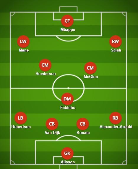 Liverpool'un Klopp'un rüya 11'ini elde etmesi için sadece iki değişiklik yapması gerekecek.