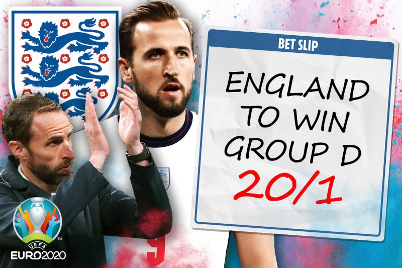 William Hill special: England 20/1 to win Group D