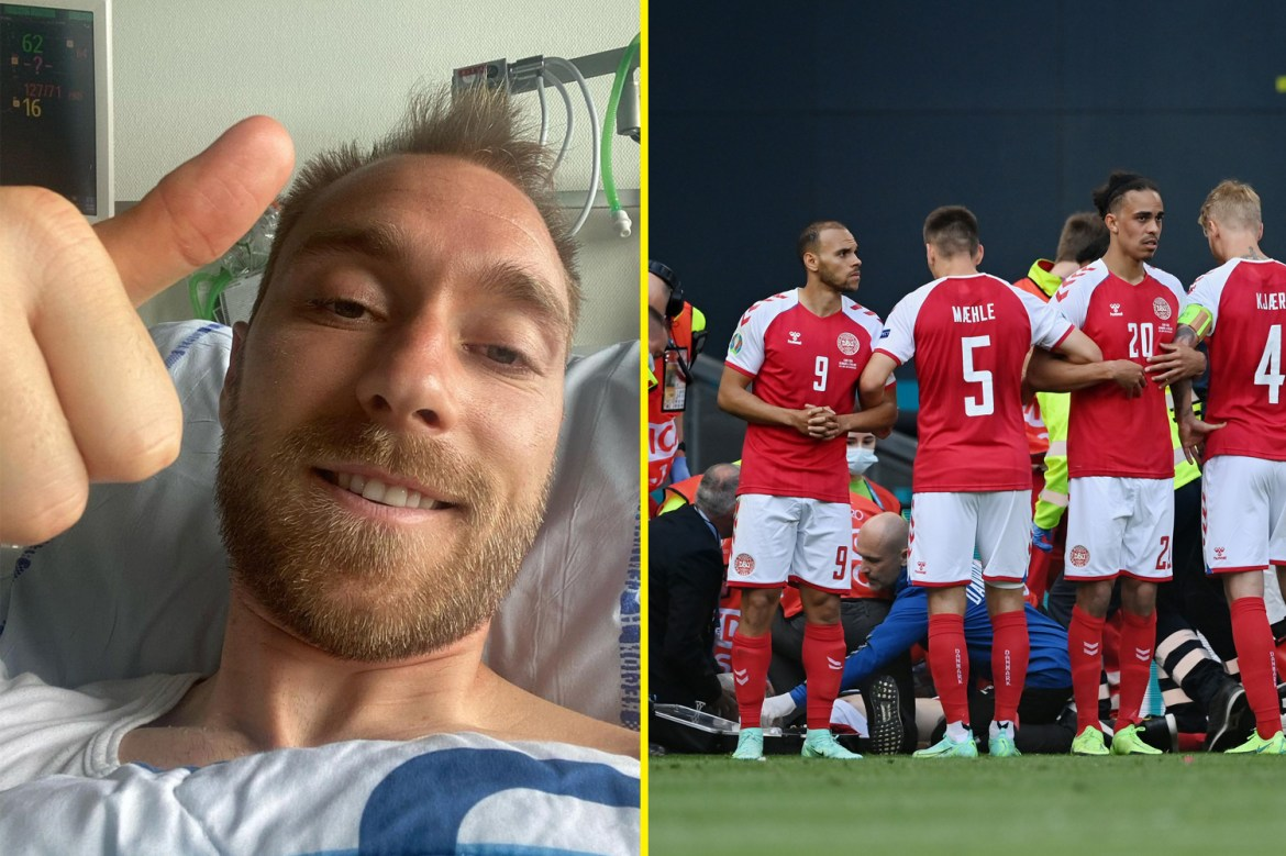 Christian Eriksen discharged from hospital after successful operation | Biz  Instant