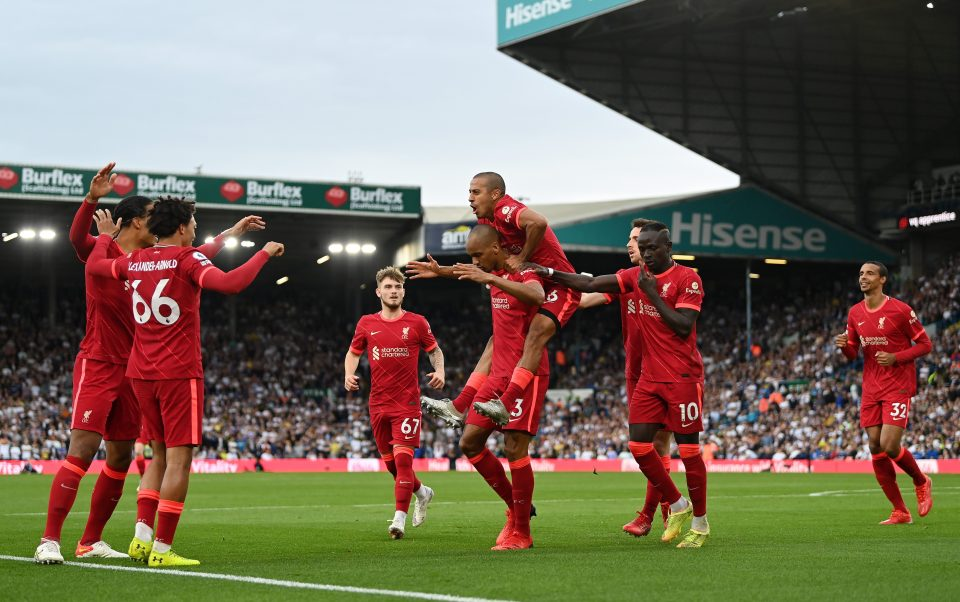 Fabinho and Thiago have won nine and drawn once in the ten league matches they have started together