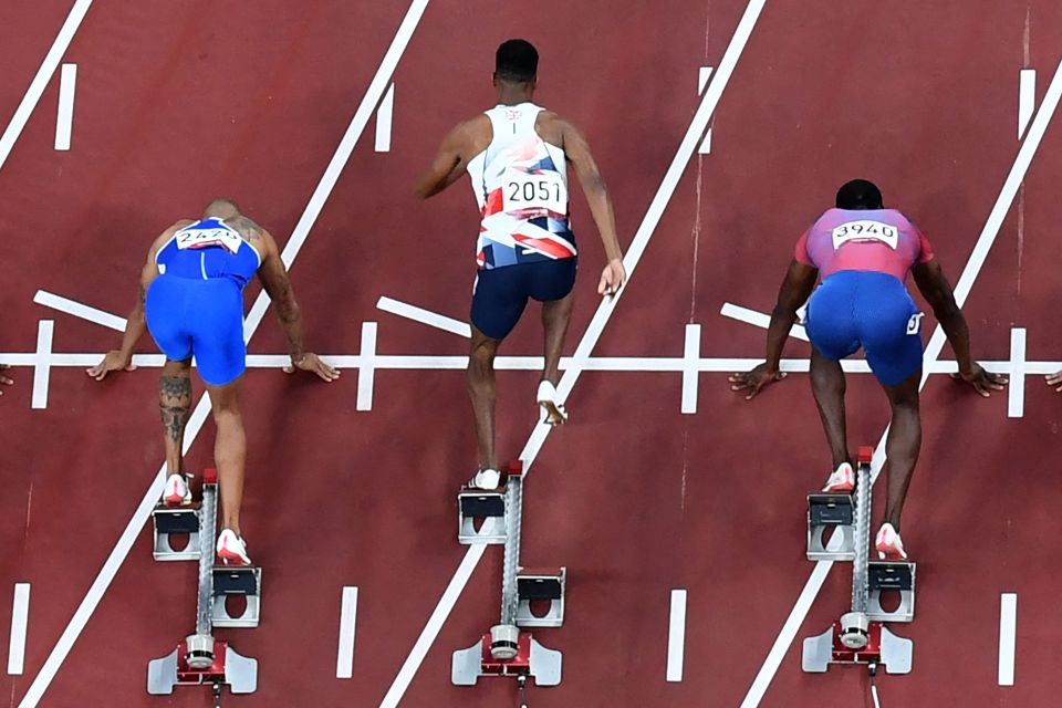 Hughes was disqualified from the 100m final