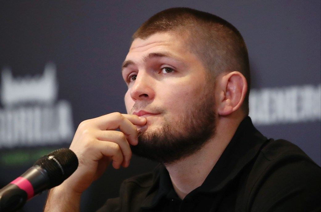 Khabib might not be getting into the Octagon anymore but he's continuing with the fighting talk