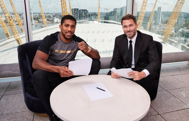 Anthony Joshua signs new, unique 'CAREER-LONG' contract with Eddie Hearn, extending promotional deal until he retires from boxing