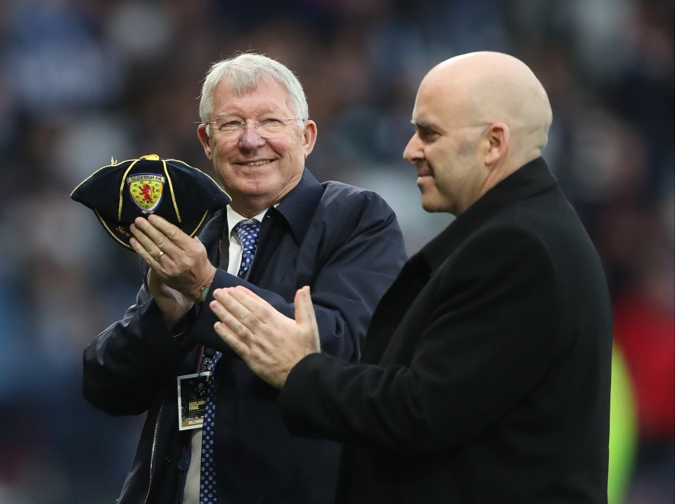 Sir Alex Ferguson was in attendance and was delighted with Scotland's display