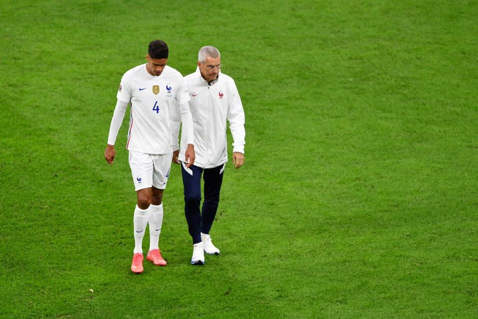 He hobbled off against Spain
